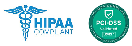 HIPAA and PCI Compliance Badges 160px Height